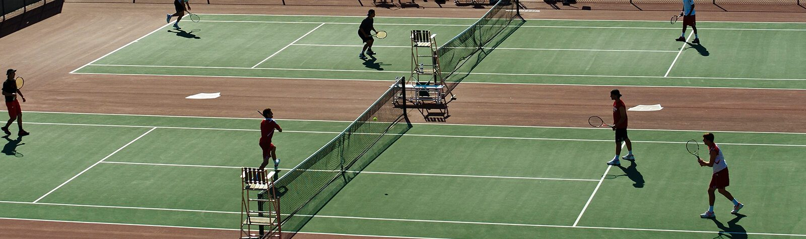 people playing tennis on UW–Madison campus