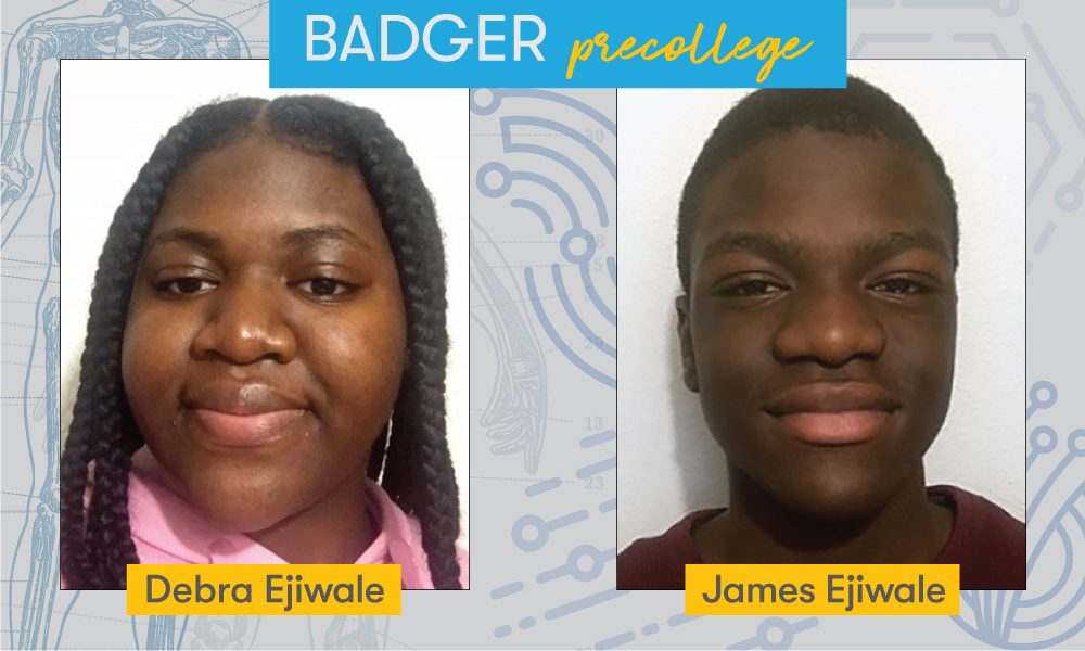 UW–Madison Badger Precollege students and siblings Debra and James Ejiwale